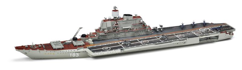 HobbyBoss 1/700 scale Soviet aircraft carrier Baku | Finescale Modeler  Magazine