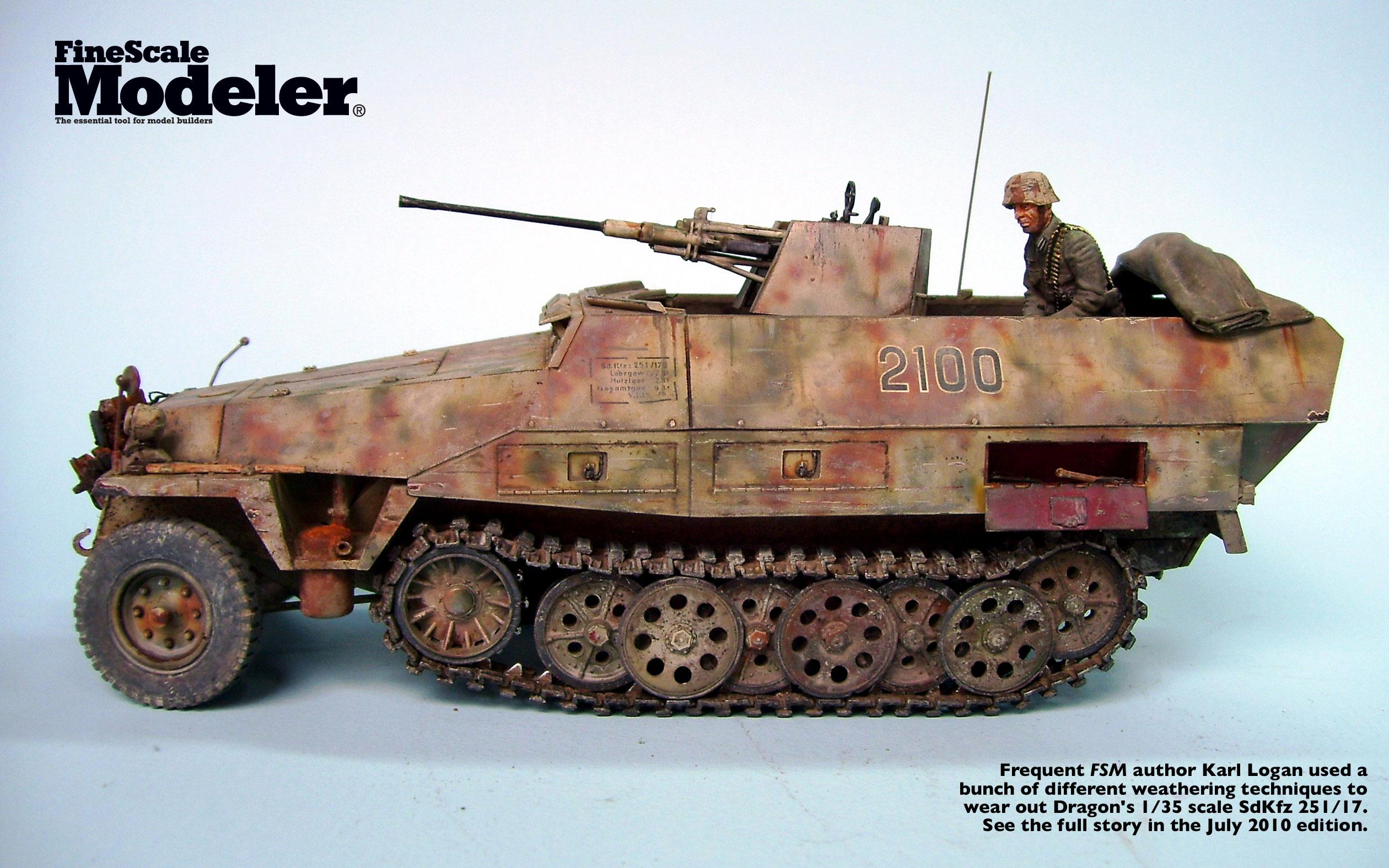 DESKTOP WALLPAPER: Karl Logan's Dragon 1/35 scale SdKfz 251/17