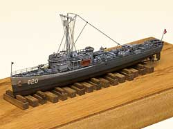 Build Shipwright's 1/350 scale resin sub chaser on a plastic