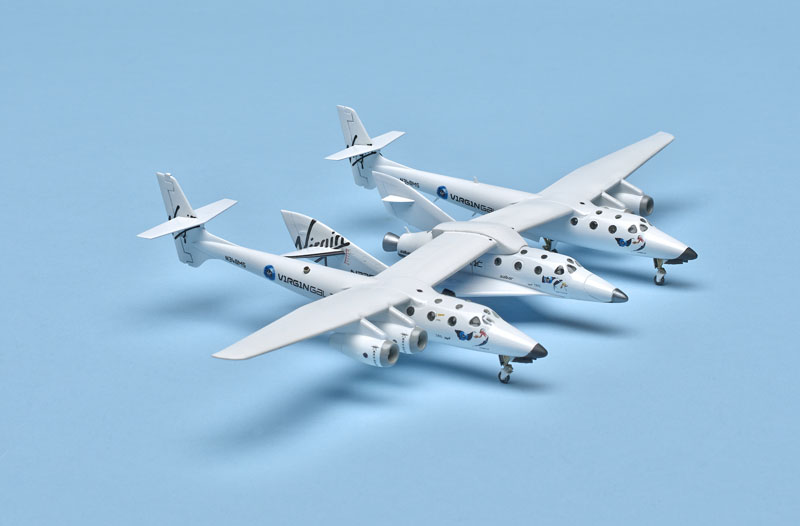 Revell Germany 1/144 scale SpaceShipTwo and WhiteKnightTwo