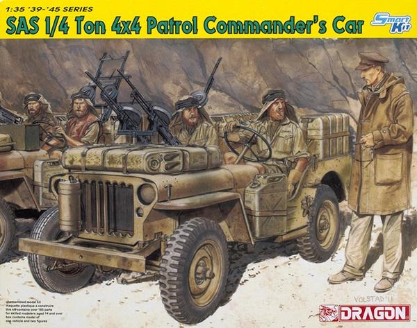 Dragon 135 Scale 14 Ton Sas 4x4 Patrol Comanders Car Finescale