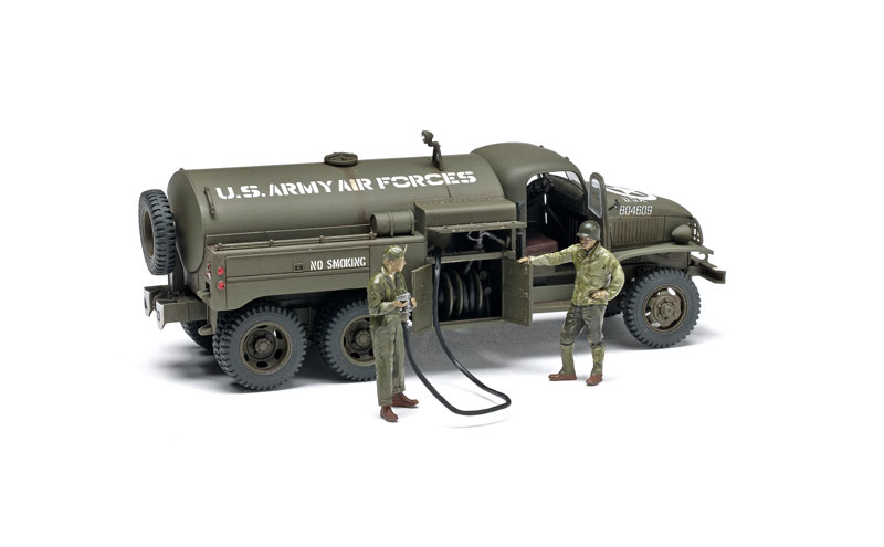 w//3 figures Tamiya 1//48 US 2 1//2 Ton 6x6 Airfield Fuel Truck
