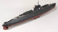 Lindberg 1/72 scale IJN <i>I-53</i> submarine and Kaitens