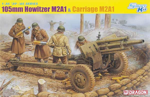 Dragon 1/35 scale M2A1 105mm howitzer and carriage